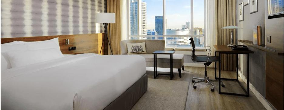 Marriot Rotterdam, Group accommodation